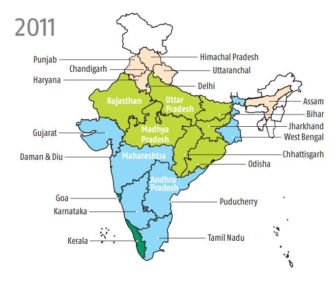 Sanitation has made the highest progress in all states