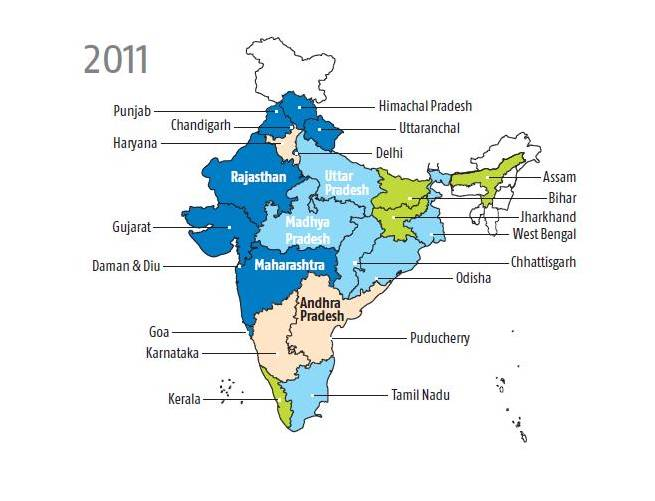 Tap water connections have been more prevalent in urban India