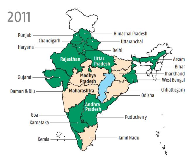 Urban India is doing relatively better than rural India even in poor states